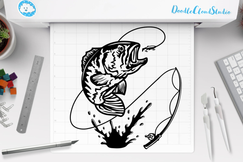 Download Fishing Pole Clipart Svg