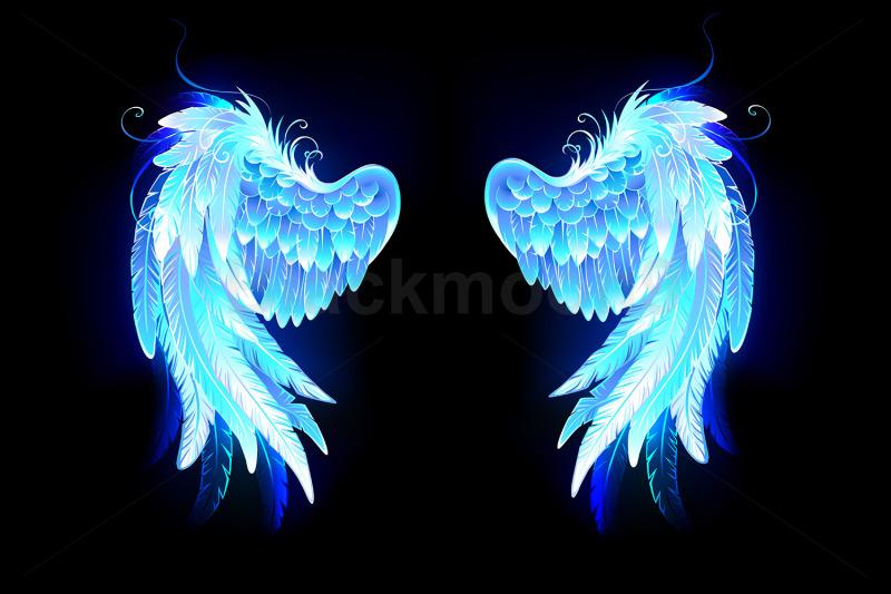 glowing-folded-wings