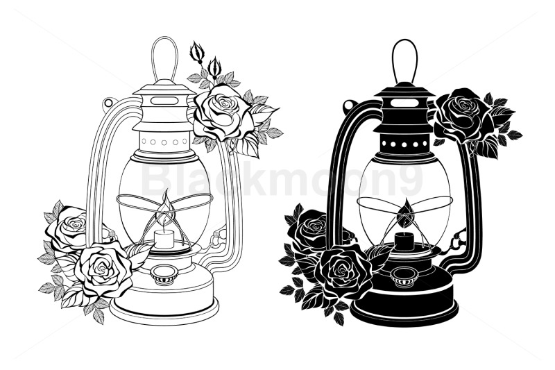 two-lamps-with-roses