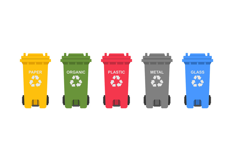 colorful-recycling-bins