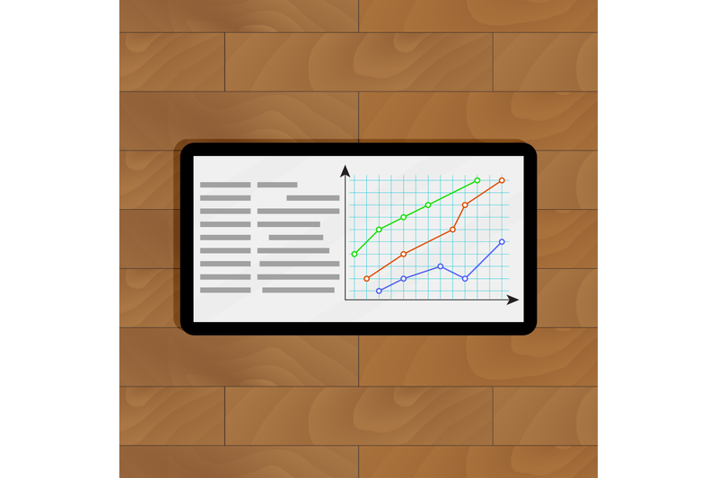 tablet-with-curve-graphic