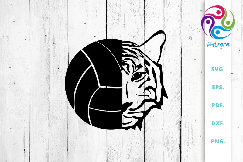 volleyball-ball-with-tiger-head-svg-cut-file
