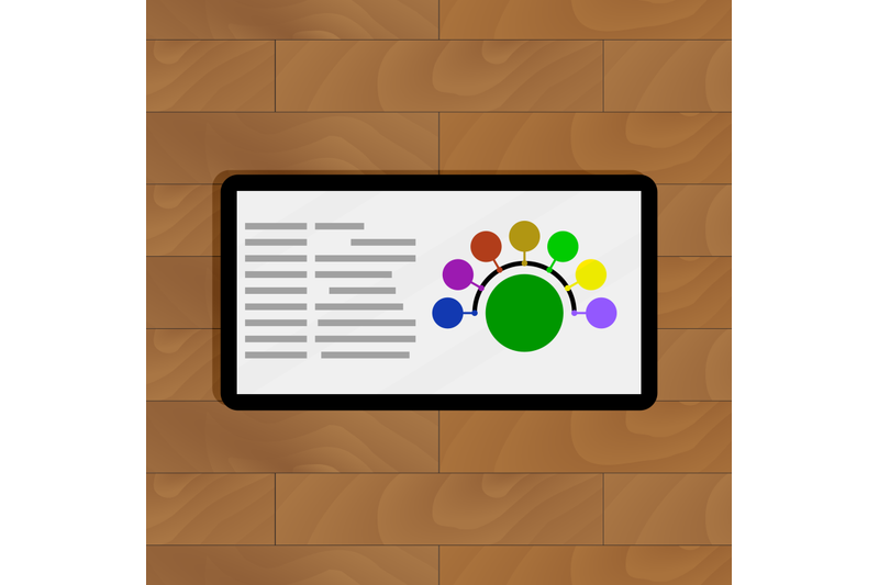 round-color-chart-on-tablets-screen