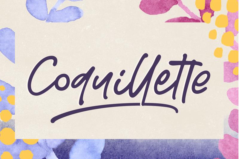 coquillette-a-handwritten-script