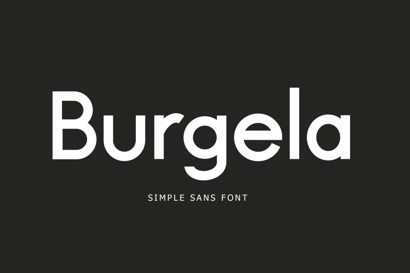 burgela-simple-sans-font
