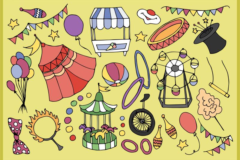 doodle-vektor-circus