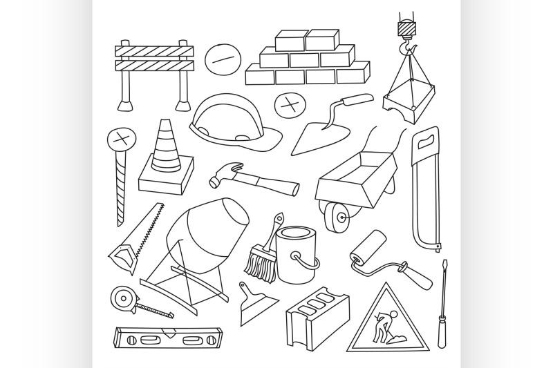doodle-vektor-construction