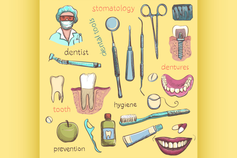 vector-set-dentist-and-tooth-care-icons