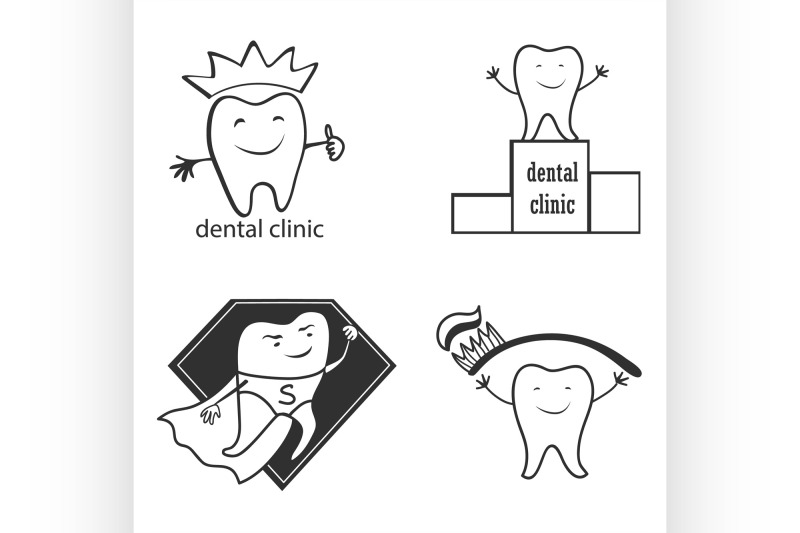 dental-symbol-collection-clean-and-bright-designs