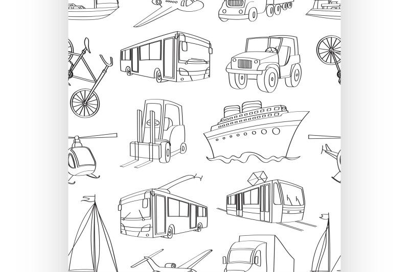 doodle-patern-transport