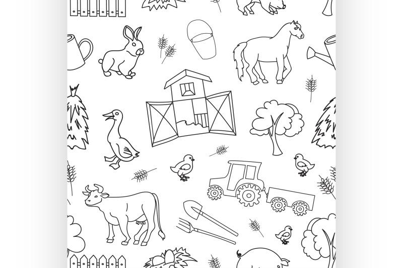 doodle-pattern-farm