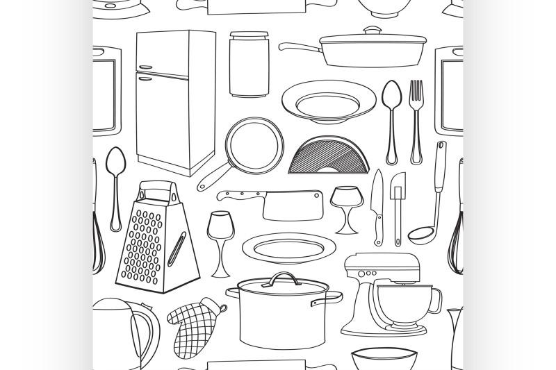 doodle-pattern-kitchen