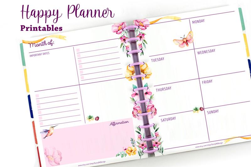 planner-printables-hummingbird-set-17-pdf-files