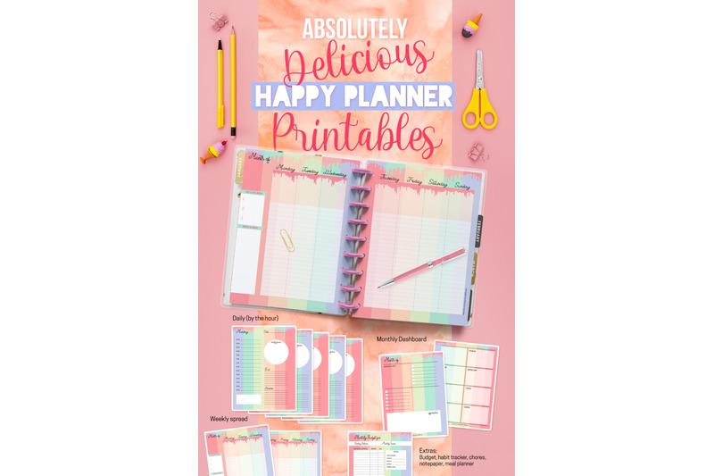 planner-printables-pastel-drip-set-17-pdf-files