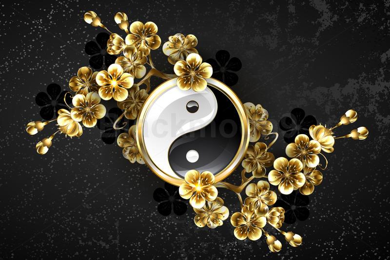yin-yang-symbol-with-golden-sakura