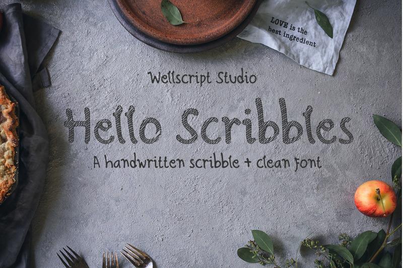 hello-scribbles-handwritten-font