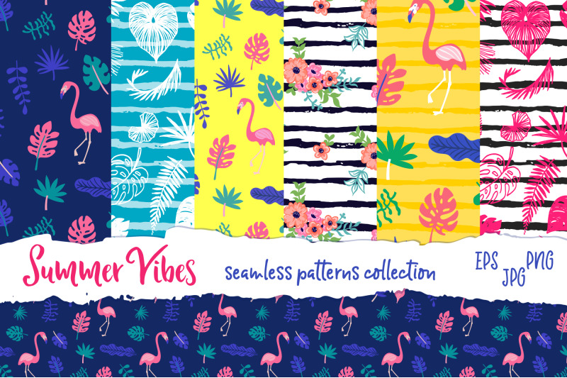 summer-vibes-vector-patterns-collection