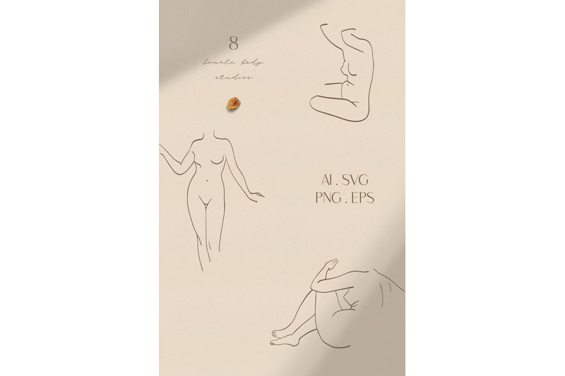abstract-modern-female-line-art-human-female-figures-art-of-shape