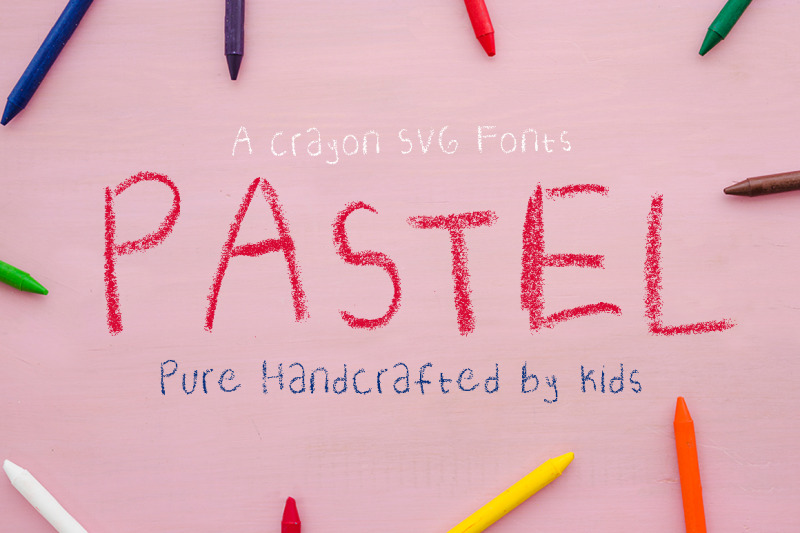 crayon-svg-fonts-pastel