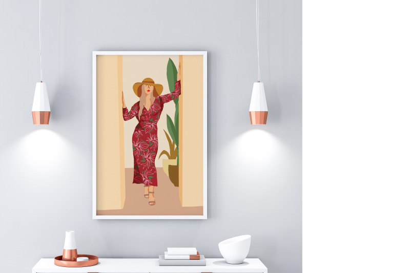 beach-girl-flat-illustration-4-png-5-posters