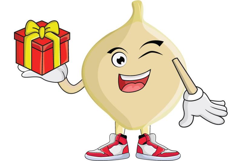 jicama-with-gift-fruit-cartoon-character