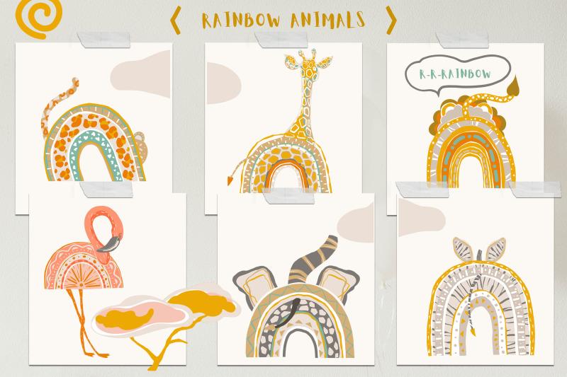 safari-baby-rainbows-modern-abstract-collection