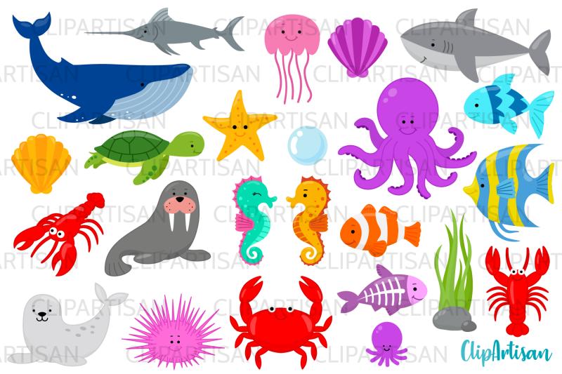 sea-creatures-clipart-under-the-sea-clip-art-whale-shark
