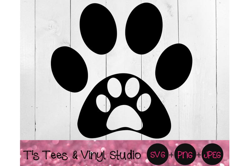Love Dog Paw Svg