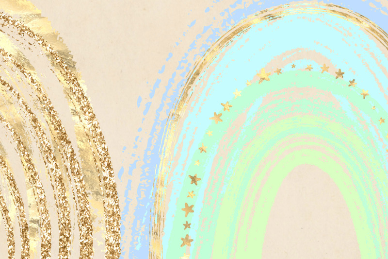 gold-rainbows-clipart