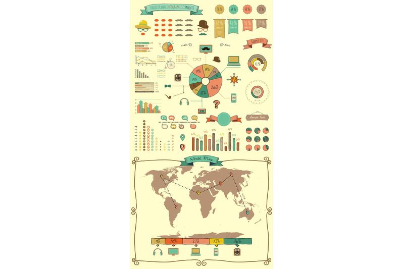 hand-drawn-doodle-design-elements-and-icons-infographic