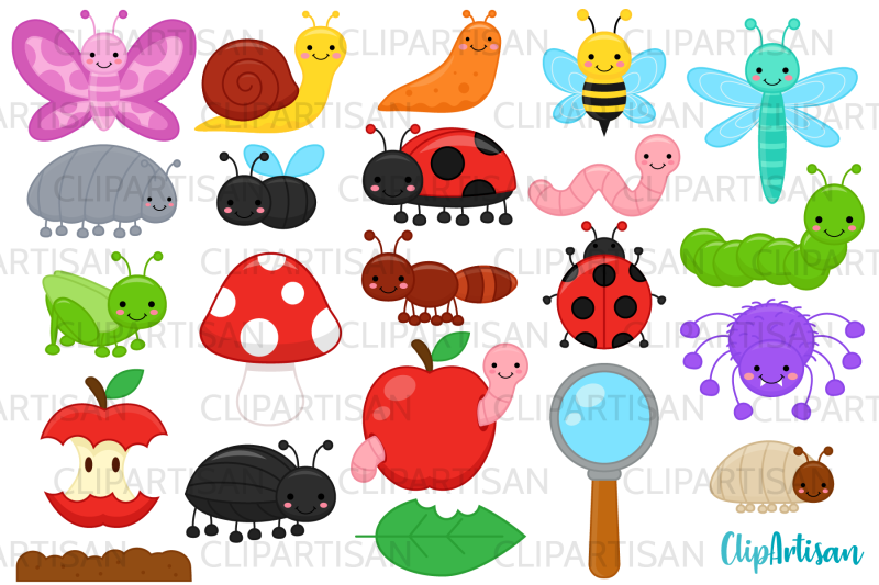 bugs-clip-art-insect-illustrations-mini-beasts
