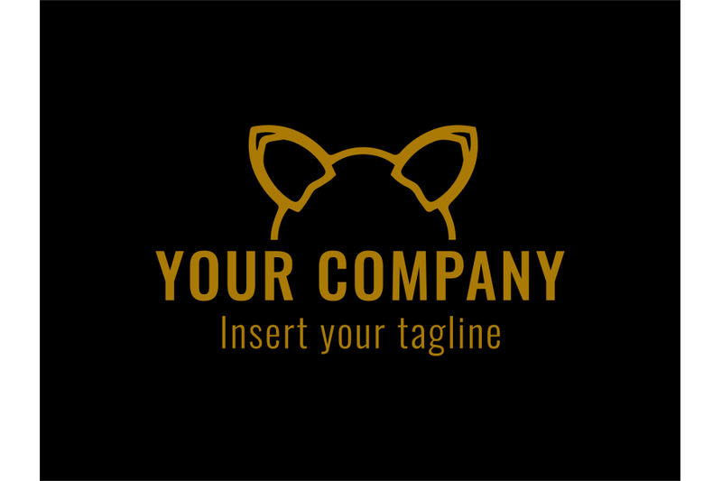 logo-gold-vector-cat-ears-icon