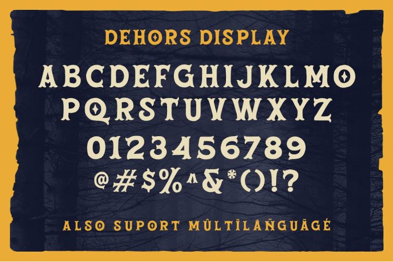 dehors-western-display-typeface