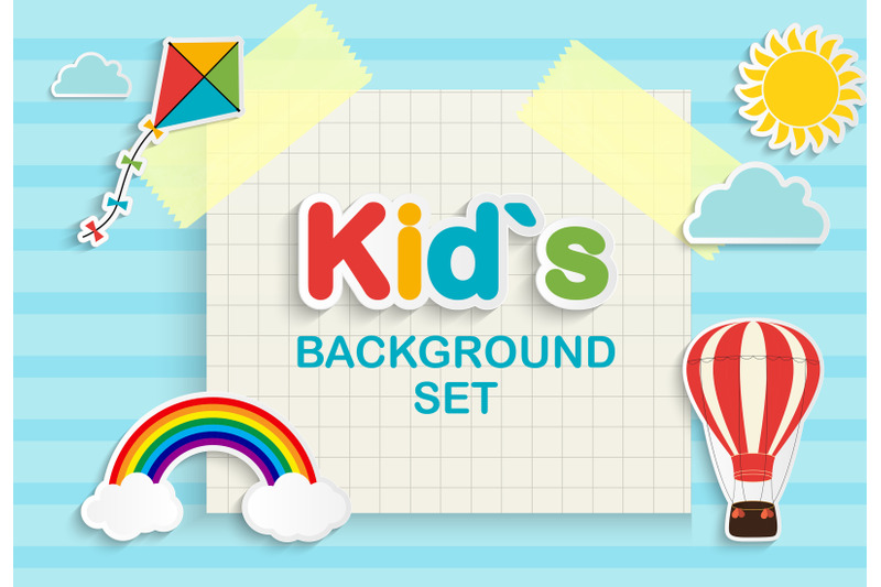 collection-of-nbsp-6-abstract-kid-s-background-set-vector-illustration