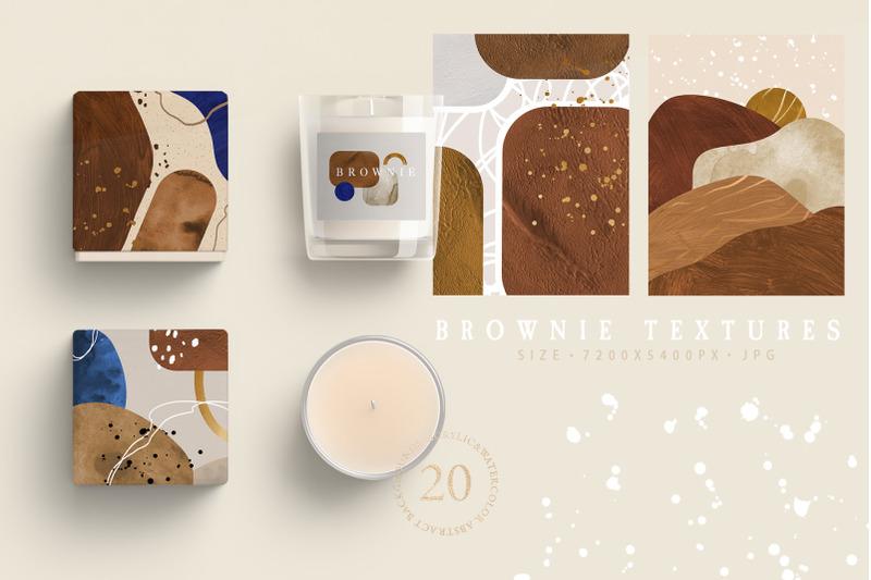 brownie-invitation-textures
