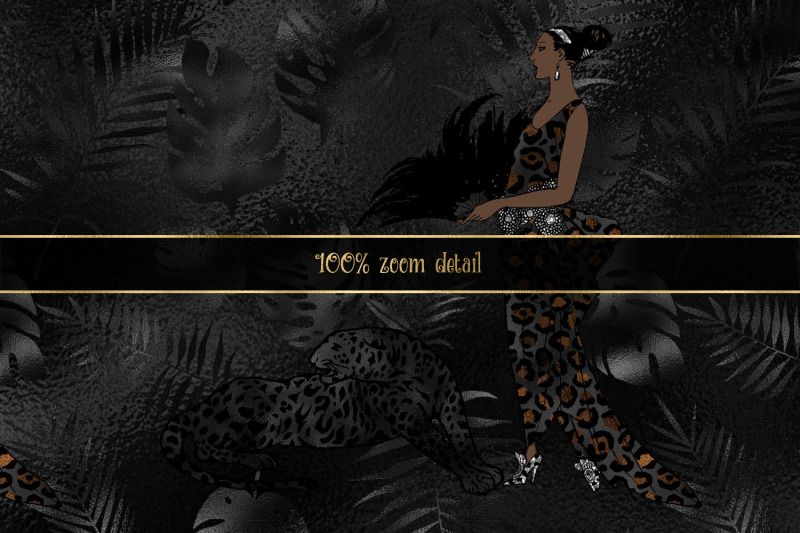 black-leopard-digital-paper