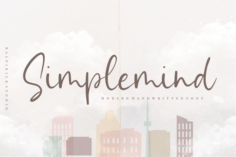 simplemind-modern-handwritten-font