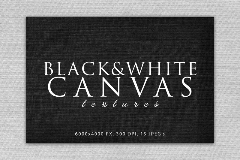 black-and-white-canvas-textures