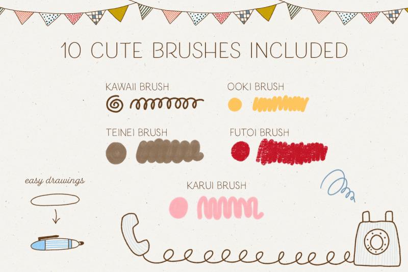 ballpoint-procreate-brushes-japanese-drawing-style