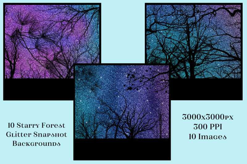 starry-forest-glitter-snapshot-backgrounds-10-image-set