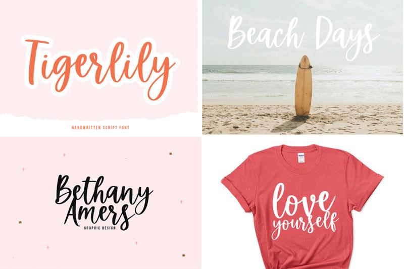 summer-font-bundle-15-handwritten-fonts