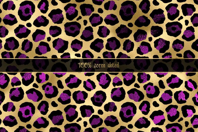 purple-and-gold-leopard-digital-paper