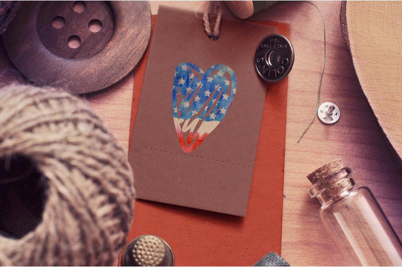 watercolor-usa-flag