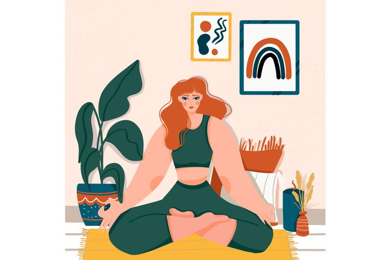 woman-doing-yoga-poses-meditation