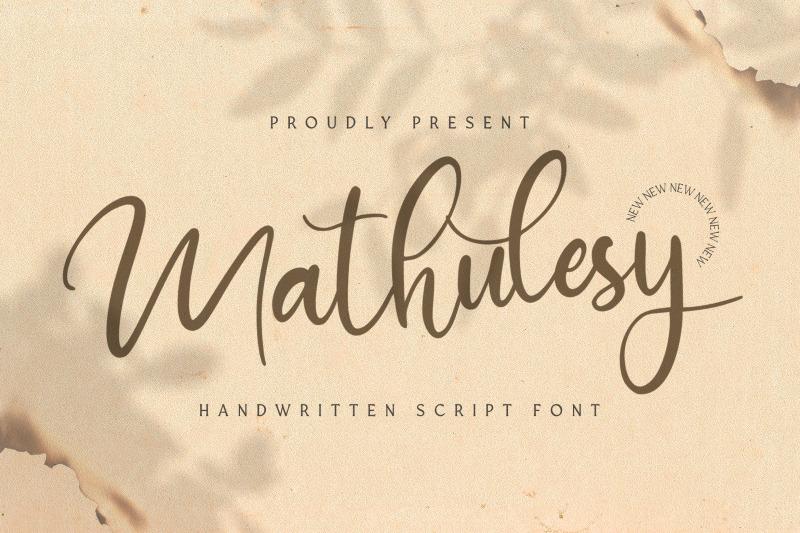 mathulesy-handwritten-font
