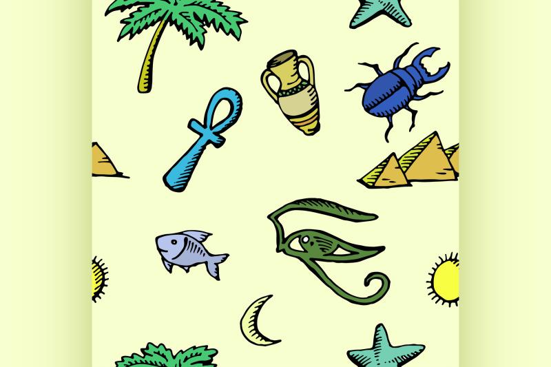 set-of-ancient-egyptian-symbols-seamless-pattern