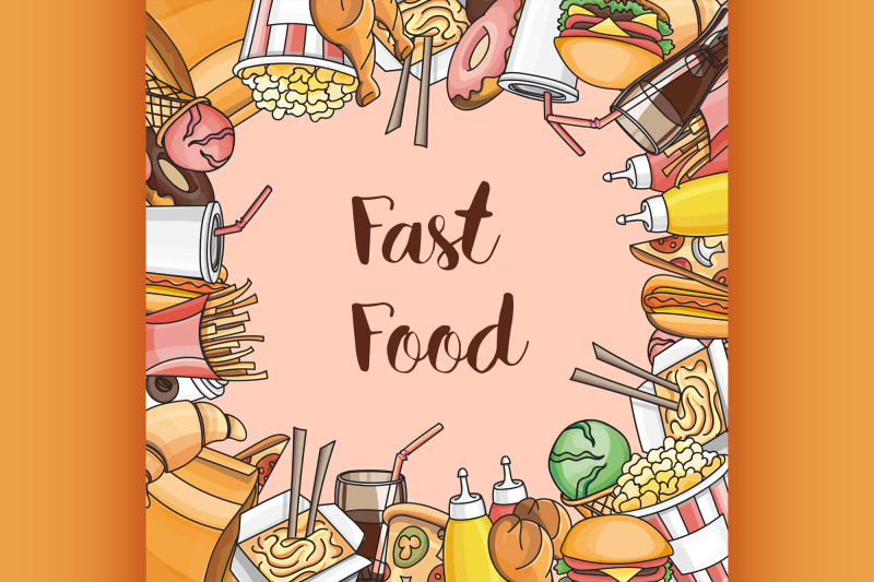 doodle-vector-fast-food