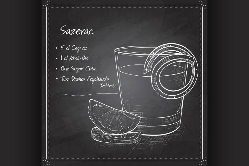 classic-sazerac-cocktail-on-black-board