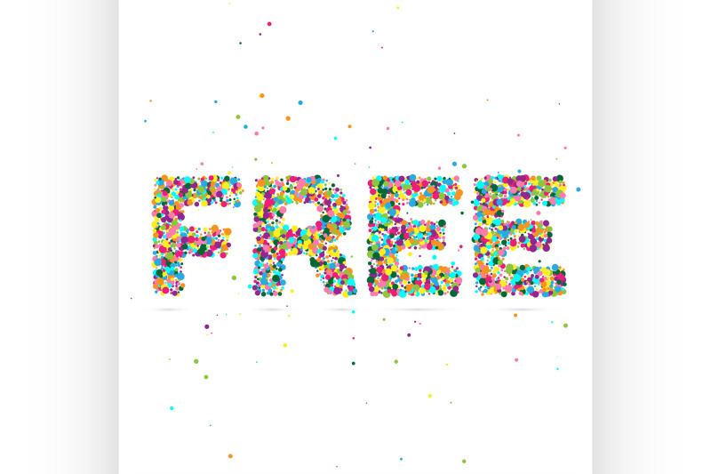 free-word-consisting-of-colored-particles