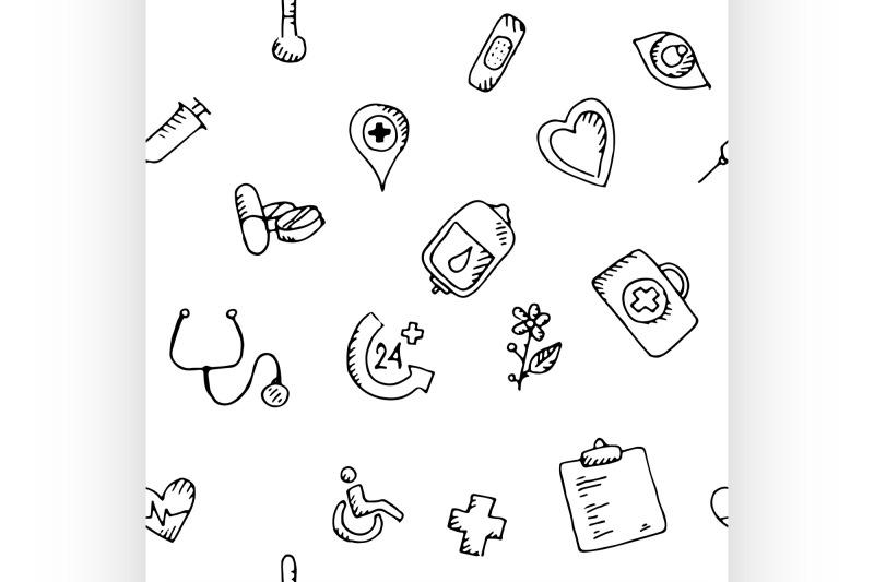 seamless-pattern-medical-icons-set
